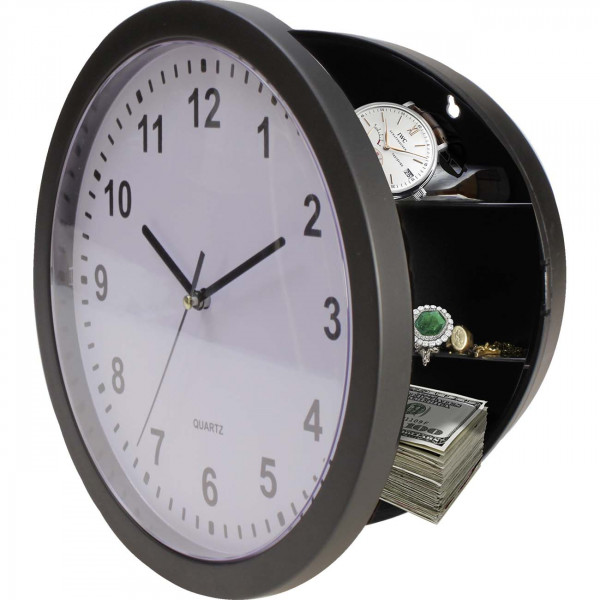 Wall Clock as/or dummy Stash Container